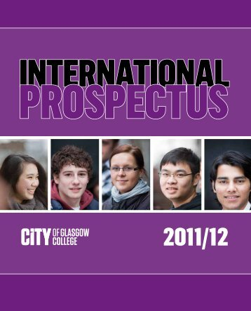 international prospectus - City of Glasgow College