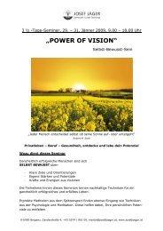 POWER OF VISION.VBG.18.12.08 - Alternative Heilmethoden