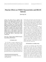 Fluorine Effects on NMOS Characteristics and DRAM Refresh - JSTS