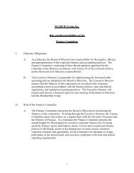 SEARCH Group, Inc. Role and Responsibilities of the Finance ...