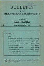 September-October 1947 - North American Rock Garden Society