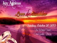 October 20, 2013 - Love and Sunshine