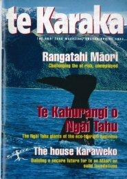 Te Karaka 6 - Ngai Tahu