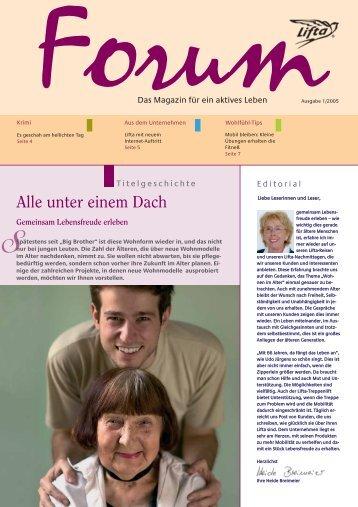 Lifta Forum: Wohlfühl-Tipps – neue Wohnmodelle – Lifta-Krimi ...