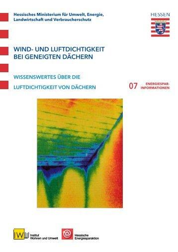 wind- und luftdichtigkeit bei geneigten dächern - Energie & Haus
