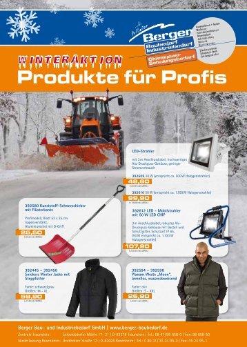 TS-Winter-Aktion-2013 - Berger Unternehmensgruppe