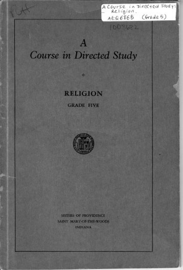 A Course in Directed Study RELIGION - Digital Repository Services