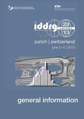 general information - iddrg 2013 - conference