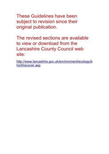 BHS Guidelines for Site Selection (PDF 4.9mb) - Lancashire County ...