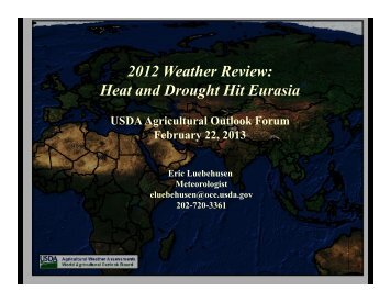 2012 Weather Review: Heat and Drought Hit Eurasia