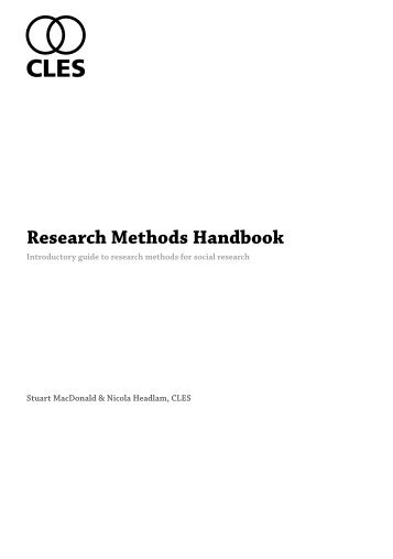 Research Methods Handbook.pdf - CLES