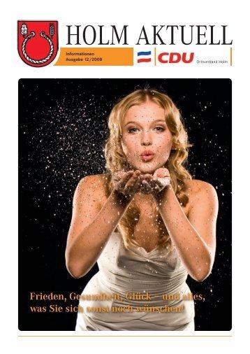 Frieden, Gesundheit, Glück – und alles, was Sie sich ... - CDU Holm