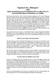"Tagebuch des ""Wikingers"" - Aeroclub Elbe Weser Karlshöfen e.V."