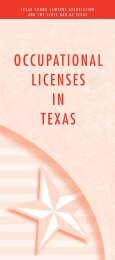 OCCUPATIONAL LICENSES IN TEXAS - State Bar of Texas