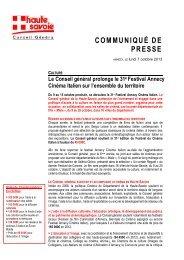 Le Conseil général prolonge le 31e Festival Annecy Cinéma Italien ...