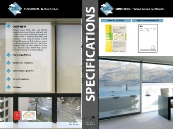 SUNSCREEN - Techno Screen OVERVIEW SUNSCREEN - Techno ...