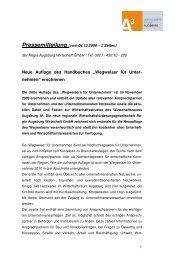 """Neue Auflage des Handbuches """"Wegweiser für Unter ... - Logo"""