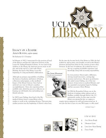 legacy of a leader alison bunting, 1970-2002 - UCLA Library