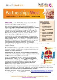 Partnership Bulletin Edition 37 March 2012 - West Cheshire Together