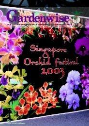 the newsletter of the singapore botanic gardens volume 22, january ...