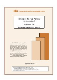 Effects of the Five Percent Uniform Tariff - Philippine Institute for ...