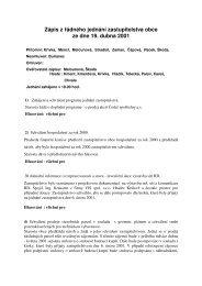 Zápis jednání ze dne 19. 4. 2001 - Spojil