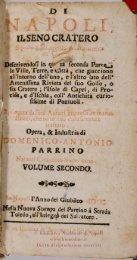 Di Napoli, il seno cratero esposto a gli occhi, & alla mente de' curiosi
