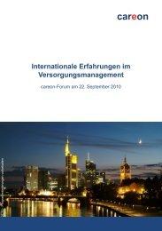 Internationale Erfahrungen im Versorgungsmanagement - careon ...