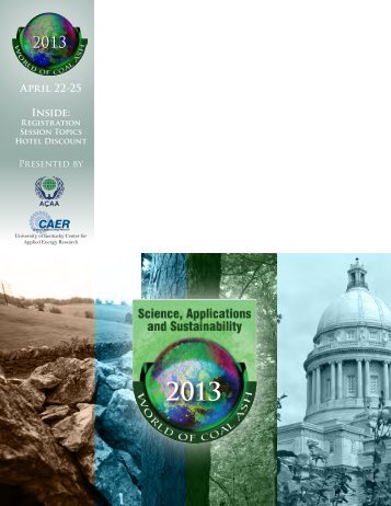 April 22-25 Inside: - World of Coal Ash Conference