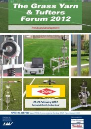 The Grass Yarn & Tufters Forum 2012 Trends and developments ...