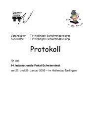 Protokoll 14. Internationale Pokalschwimmfest 2006 - Tvn ...