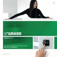 mit Sensotronic bietet GRASS ein einzigartiges, komplett ...