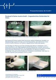 Presseinformation 20.10.2011 Rosskopf & Partner Austria GmbH ...