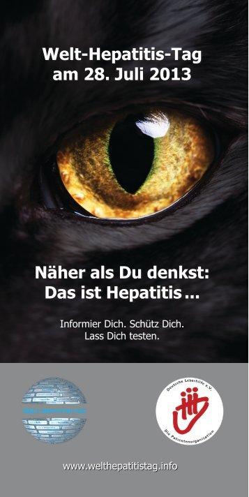Das ist Hepatitis... - Welt-Hepatitis-Tag