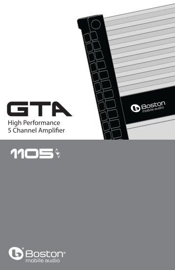 Product Manual - Boston Acoustics
