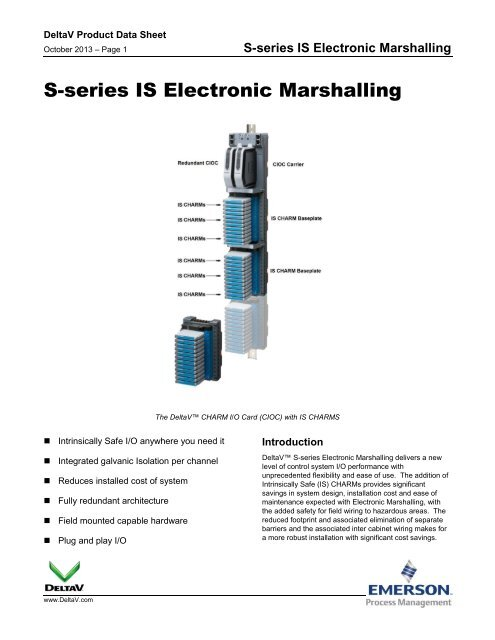 S-series IS Electronic Marshalling - Emerson Process Management