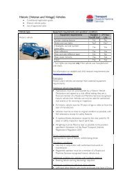 Historic vehicle, clubs and policy - Roads and Maritime Services