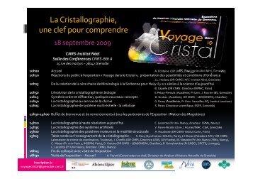 La Cristallographie, une clef pour comprendre