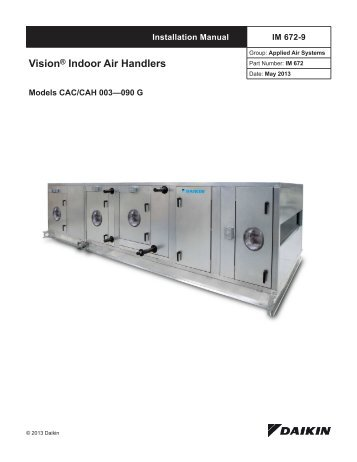 skyline air handlers hts rh yumpu com McQuay Geothermal Heat Pumps McQuay HVAC Parts