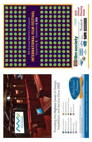 2013 Festival Planning Guide - Martha's Vineyard Film Center