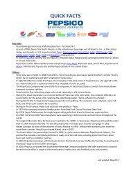 QUICK FACTS - PepsiCo