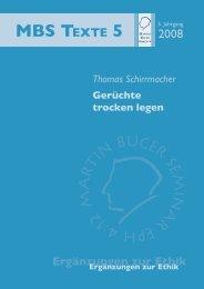 Gerüchte trocken legen - Martin Bucer Seminar