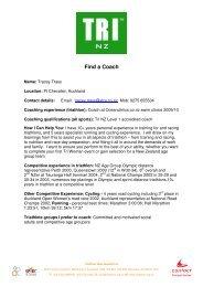 Tracey Trass - Triathlon New Zealand