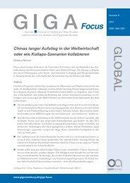 Chinas langer Aufstieg in die Weltwirtschaft oder wie ... - ETH Zürich