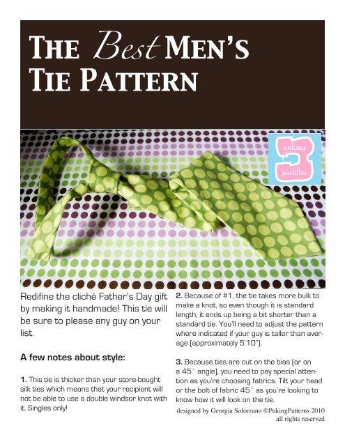 The Best Men's Tie Pattern - Puking Pastilles