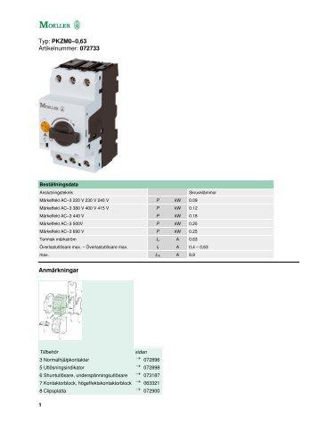 Typ: PKZM0−0,63 Artikelnummer: 072733 ... - BS Elcontrol