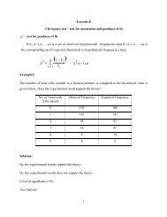 1 Exercise.8 Chi square test – test for association and ... - TNAU