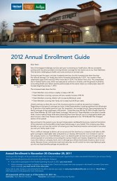2012 Annual Enrollment Guide - United Supermarkets