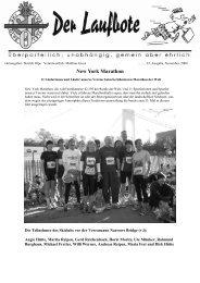 New York Marathon - Skiclub Olpe