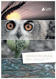 UMWELTERKLÄRUNG - Lam Research